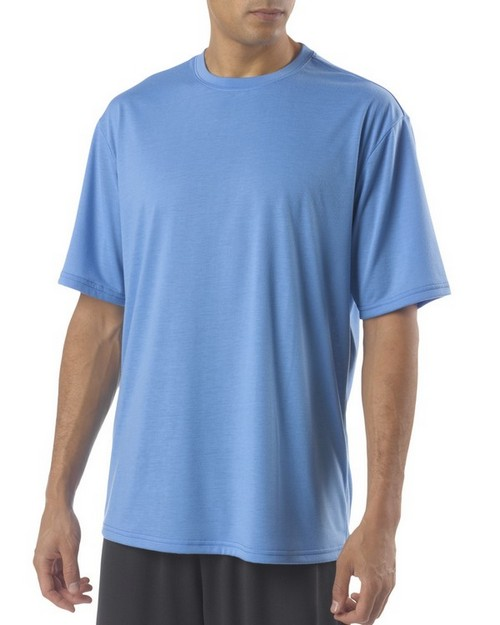 A4 N3264 Mens Shorts Sleeve Spun Poly T-Shirt