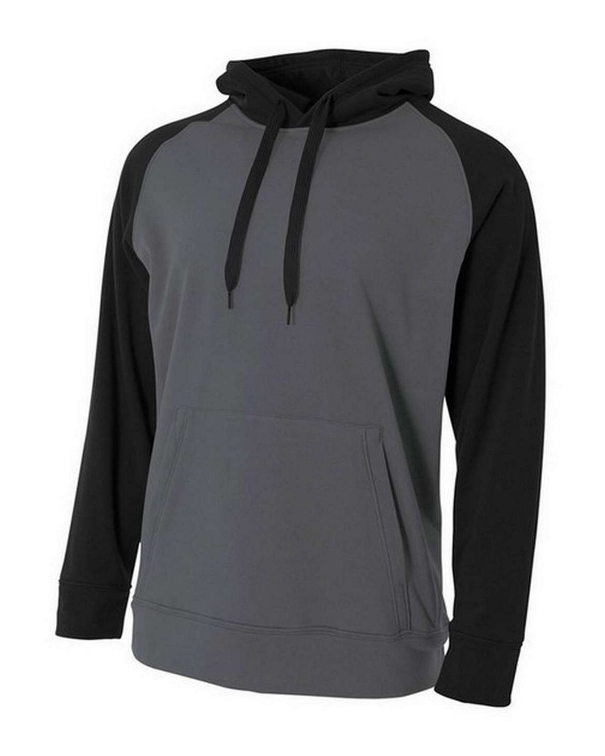 A4 N4234 Adult Color Block Tech Fleece Hoodie