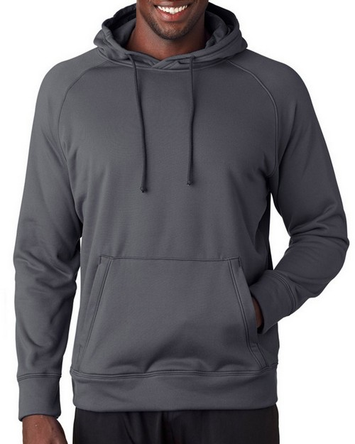 A4 N4237 Mens Solid Tech Fleece Hoodie