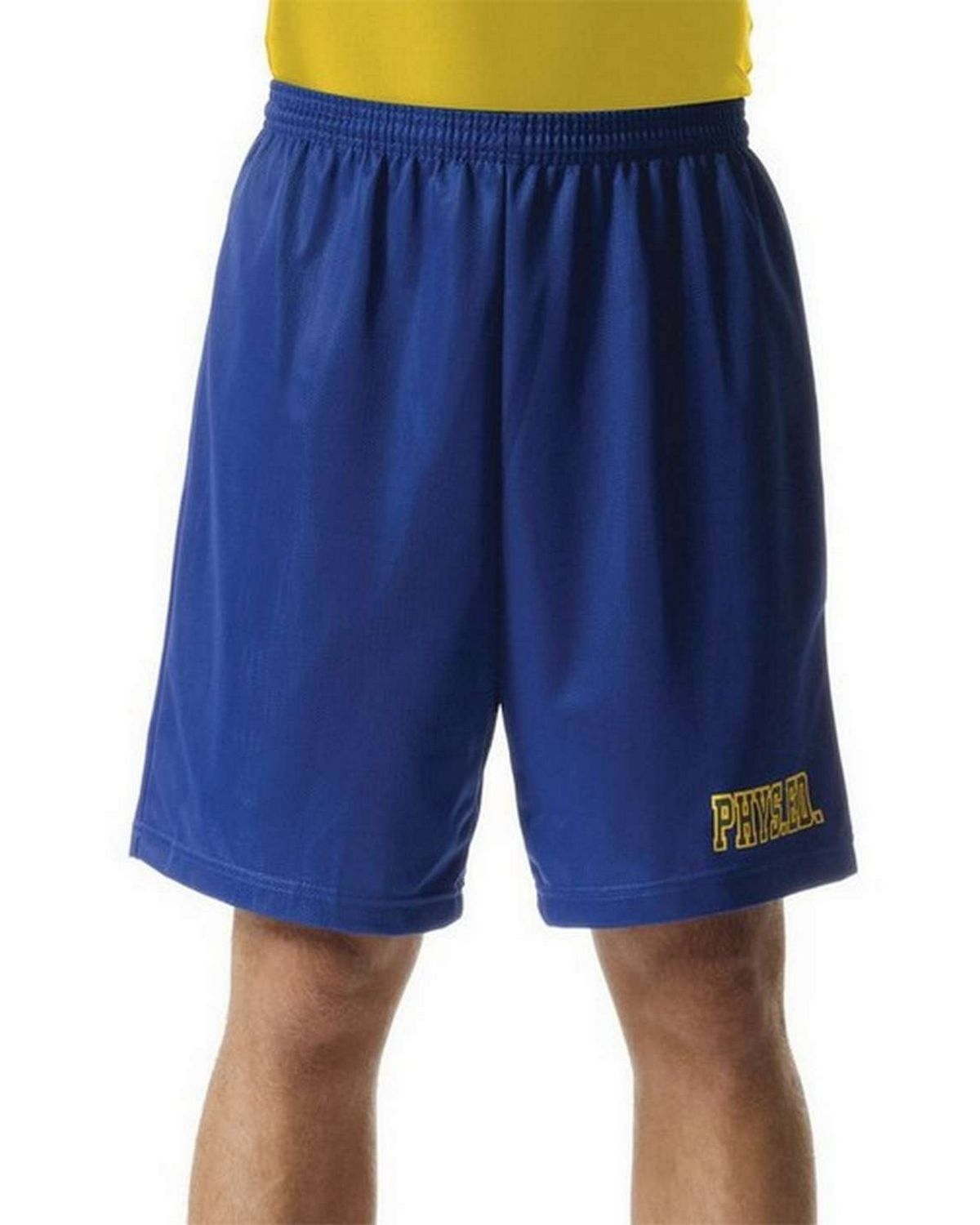 A4 N5255 Adult 9 Lined Micromesh Shorts