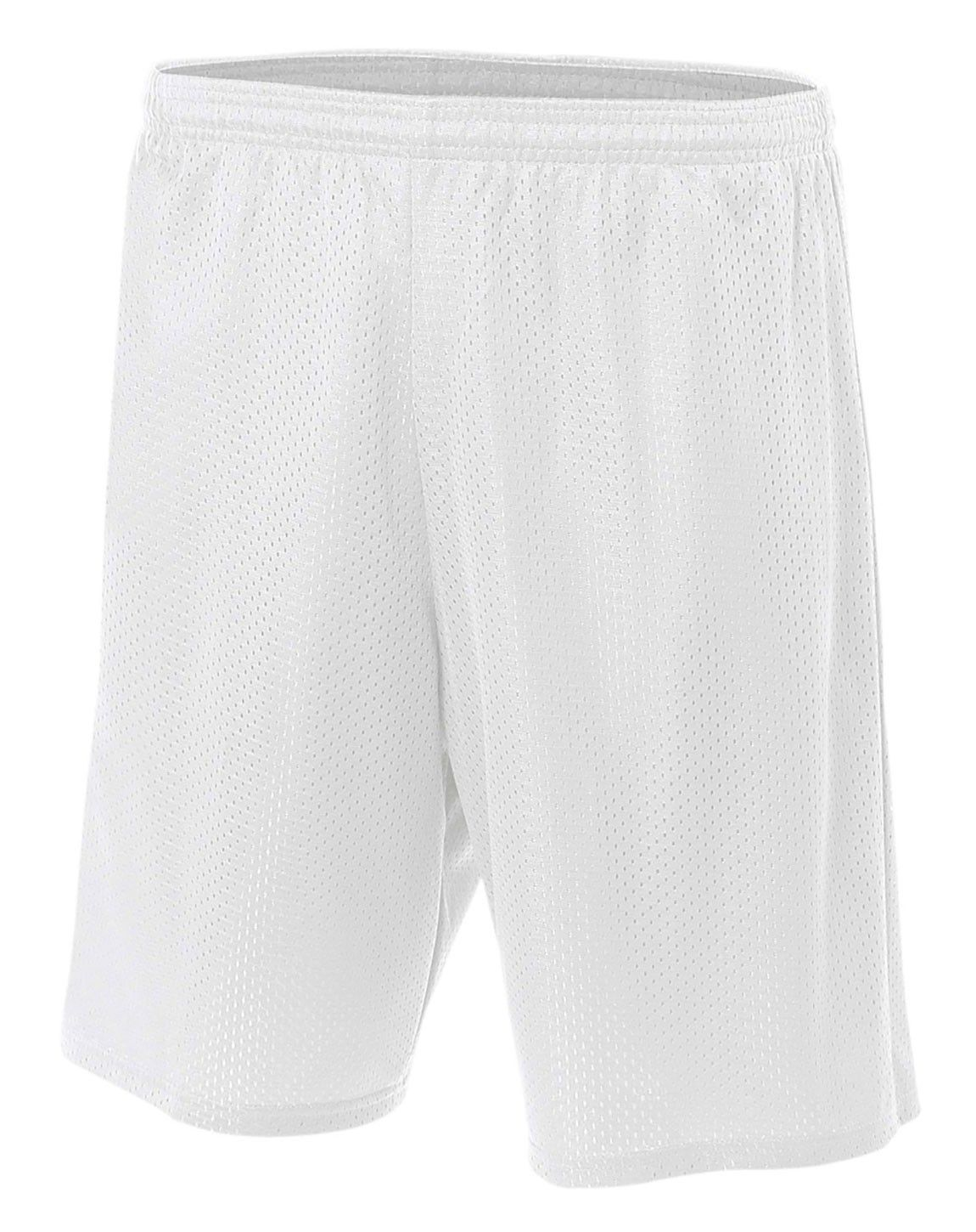 A4 N5296 Lined 9 Inch Inseam Tricot Mesh Shorts