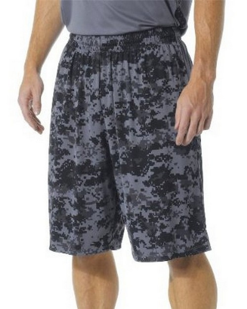 A4 N5322 Adult 10 Inseam Printed Camo Performance Shorts