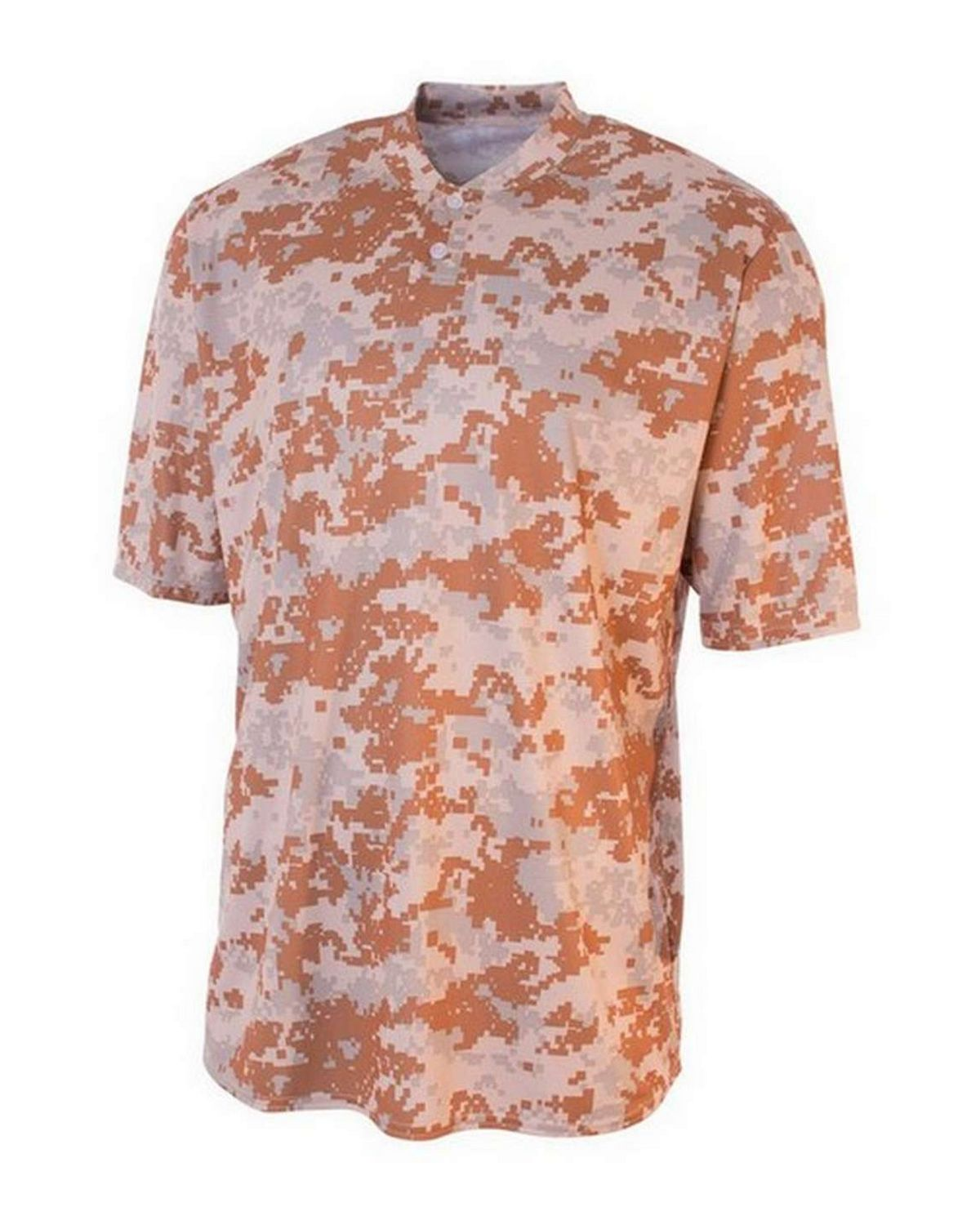 A4 NB3263 Youth Camo Two-Button Henley