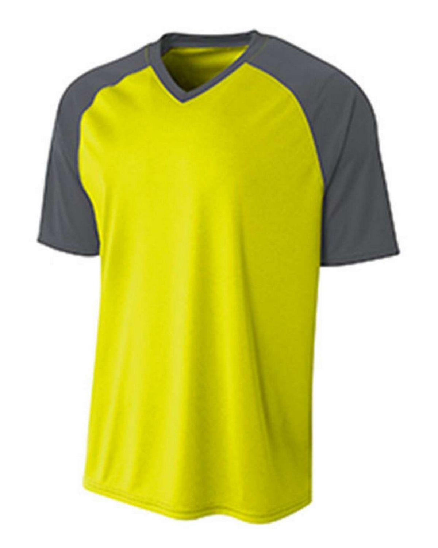 A4 NB3373 Youth Polyester V-Neck Strike Contrast Sleeves Jersey