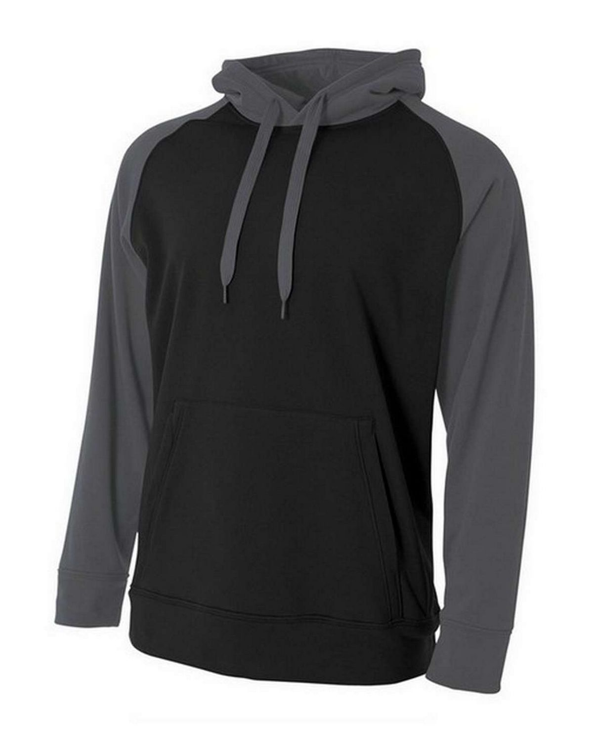 A4 NB4234 Youth Color Block Tech Fleece Hoodie Pullover