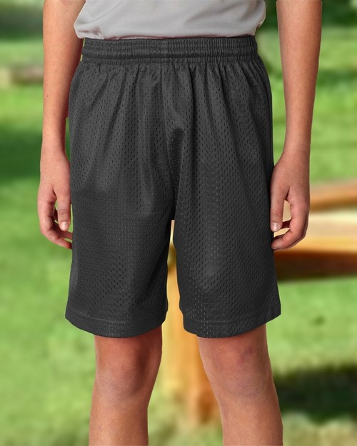 A4 NB5301 Youth 6 Inseam Lined Tricot Mesh Shorts