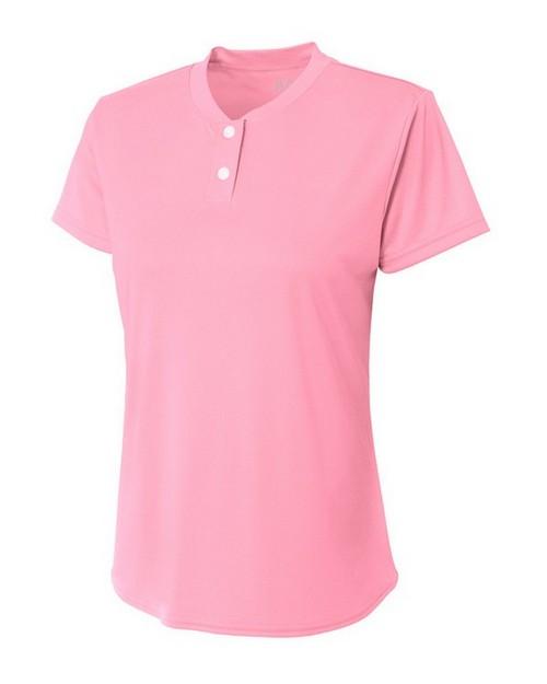 A4 NW3143 Ladies Tek 2-Button Henley Shirt