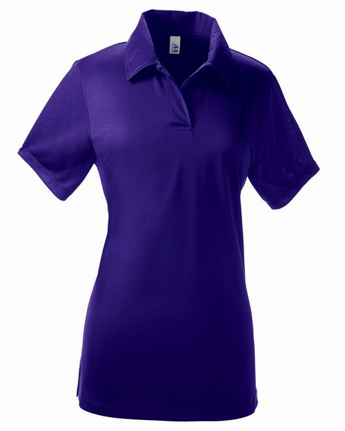 A4 NW3265 Ladies Textured Polo Shirt w/ Johnny Collar
