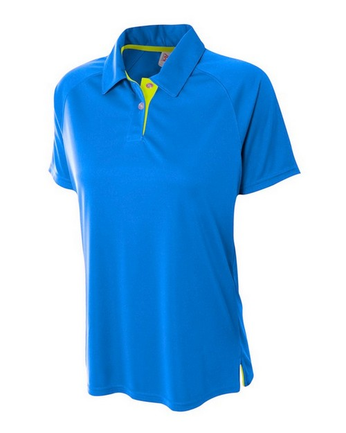 A4 NW3293 Ladies Contrast Polo Shirt
