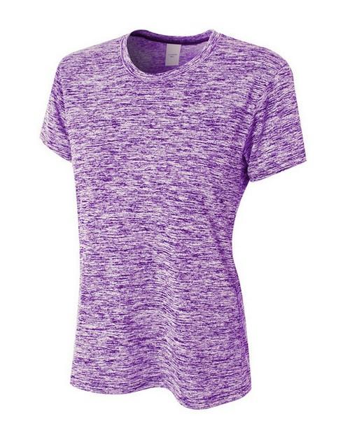 A4 NW3296 Ladies Space Dye Tech T-Shirt