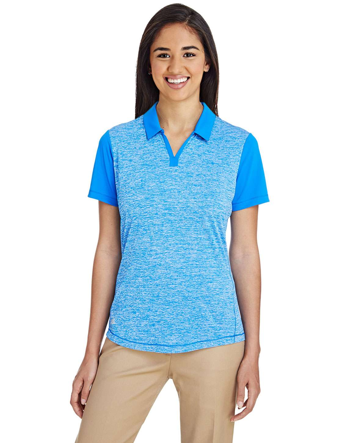 Adidas Golf A146 Ladies Heather Block Polo