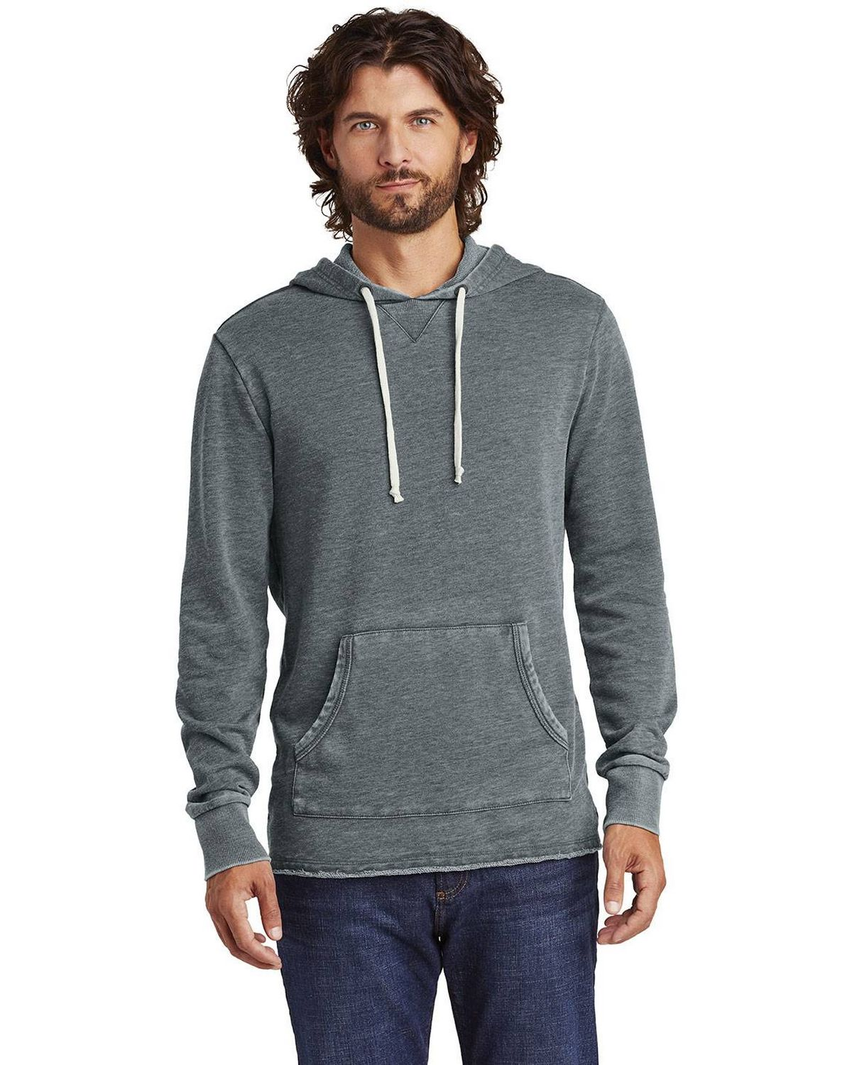 Alternative AA8629 Mens Burnout Schoolyard Hoodie