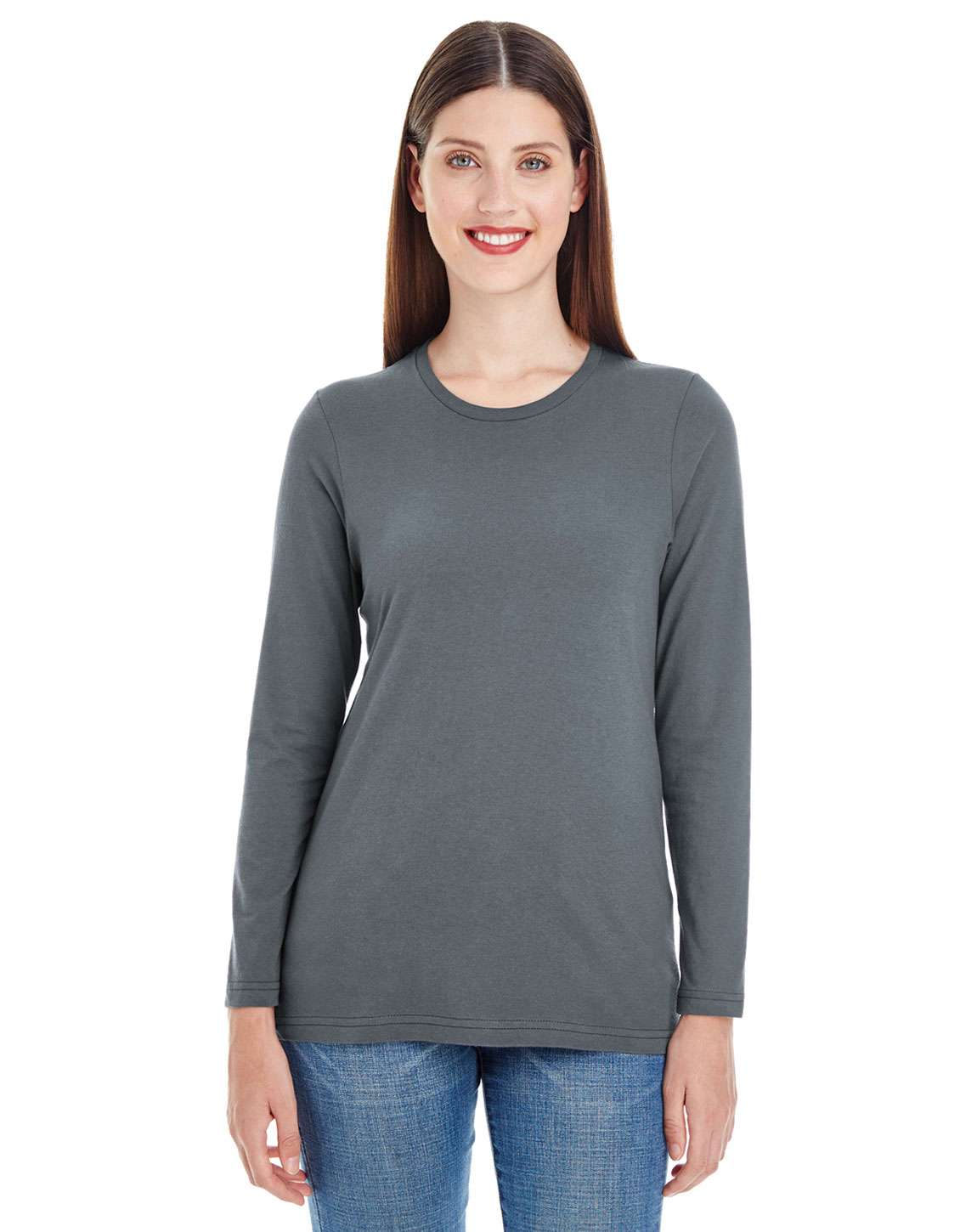 American Apparel 23337W Ladies Fine Jersey Classic Long-Sleeve T-Shirt