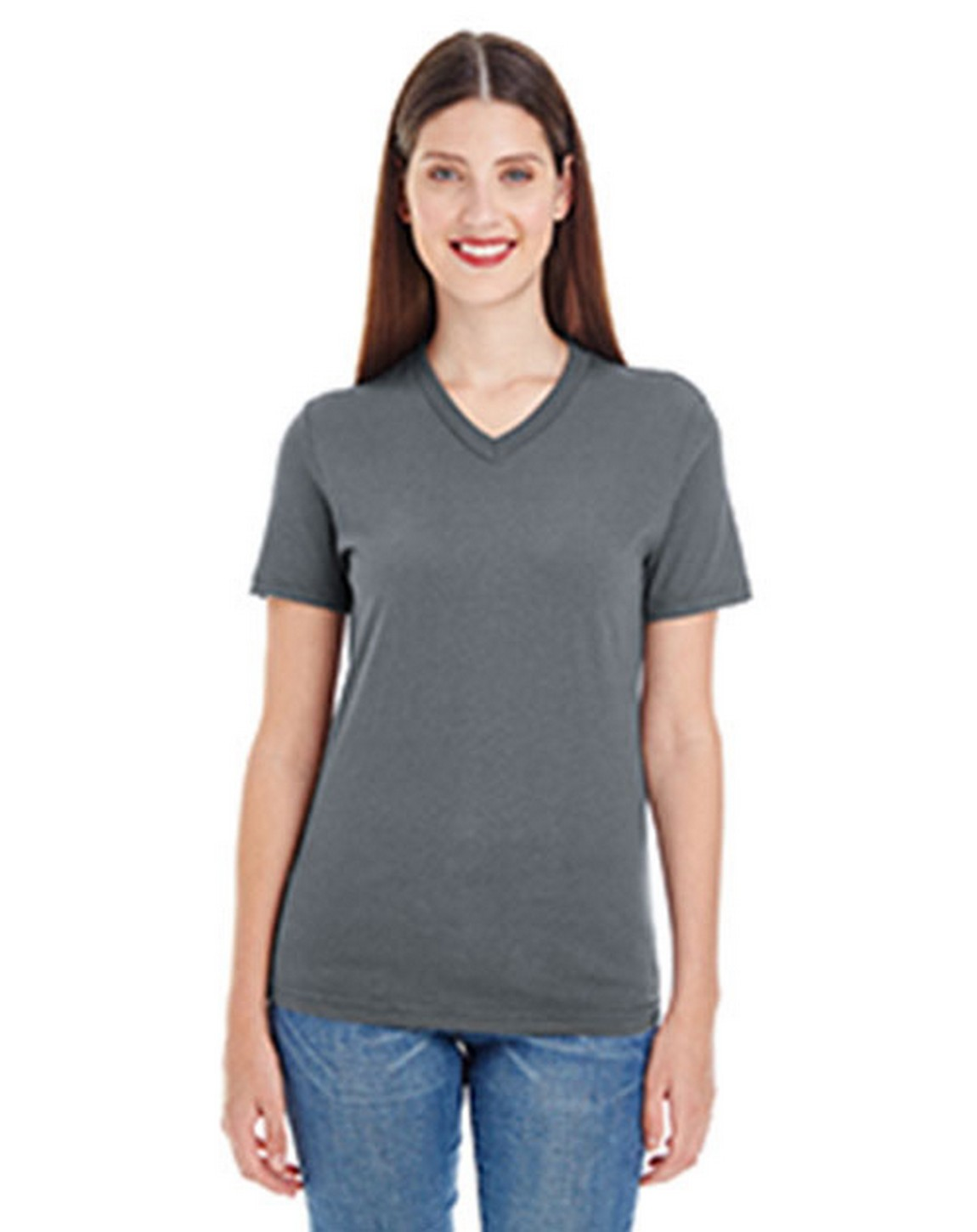 American Apparel 2356W Ladies Fine Jersey Short Sleeve Classic V-Neck T-Shirt