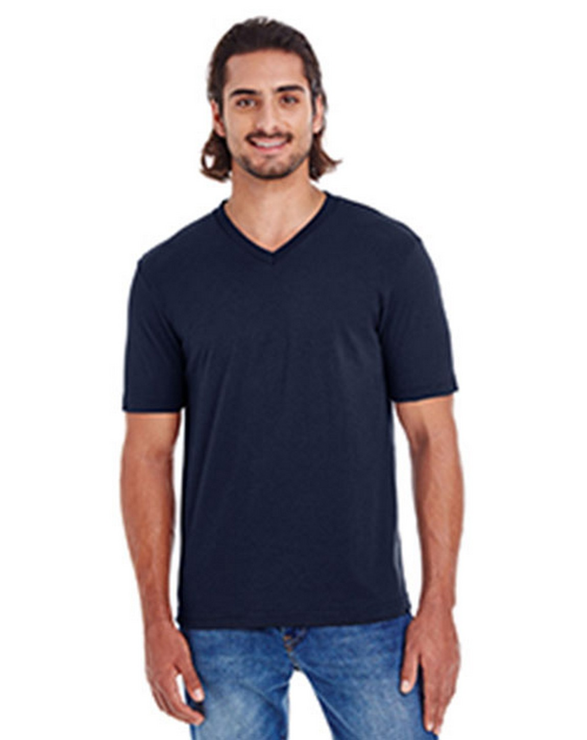 American Apparel 24321W Unisex Fine Jersey Short Sleeve Classic V-Neck T-Shirt
