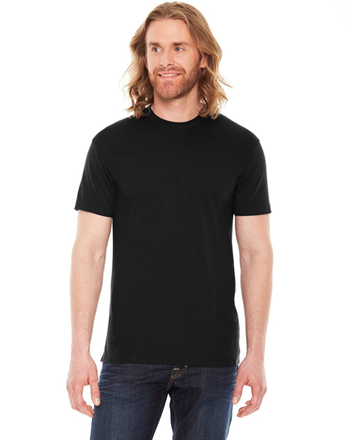 American Apparel BB401W Unisex Poly-Cotton Crew Neck T-Shirt