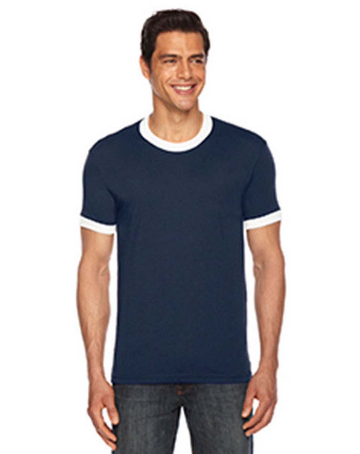 American Apparel BB410W Unisex Poly-Cotton Short-Sleeve Ringer T-Shirt