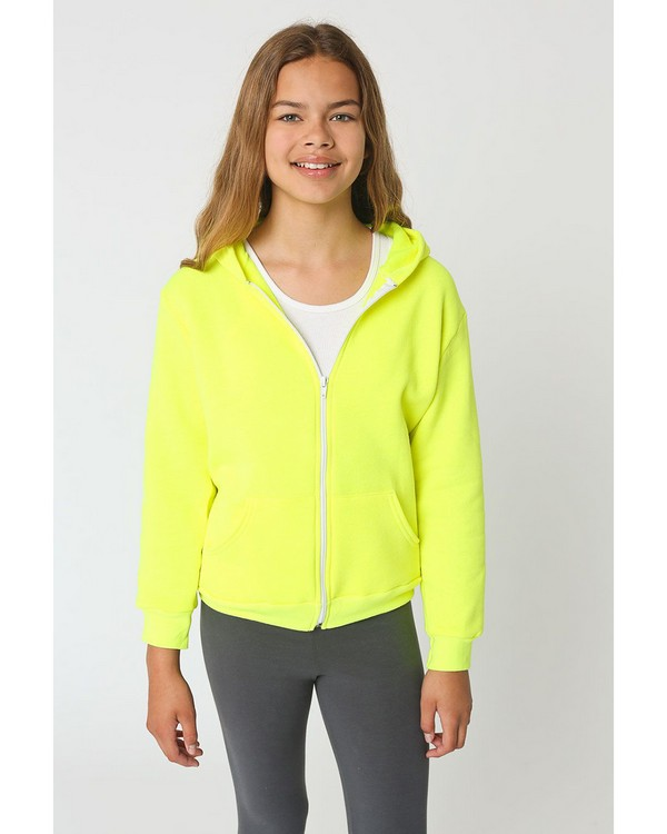 American Apparel F297 Flex Fleece Youth Zip Hoodie