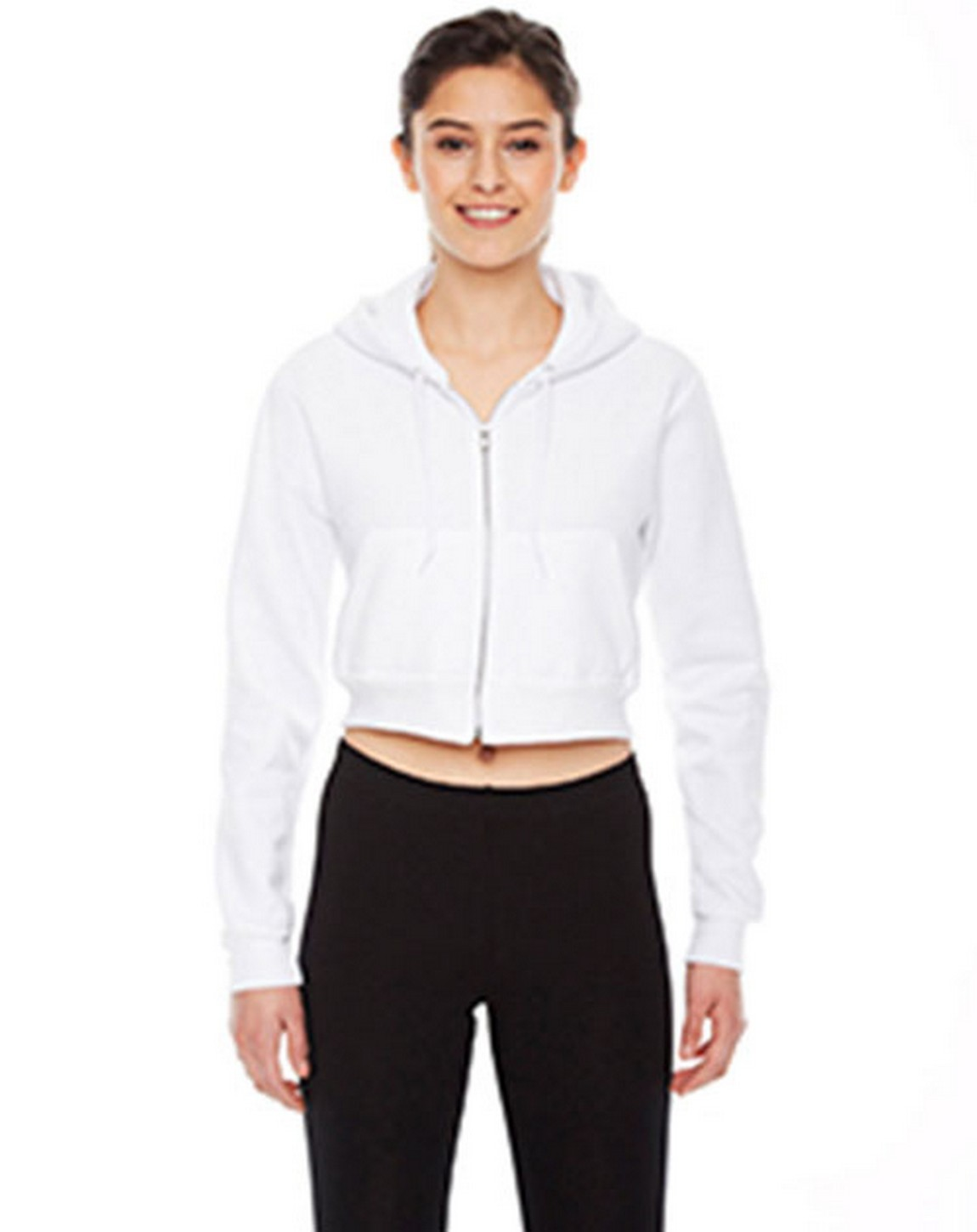 American Apparel F397W Ladies Cropped Flex Fleece Zip Hoodie