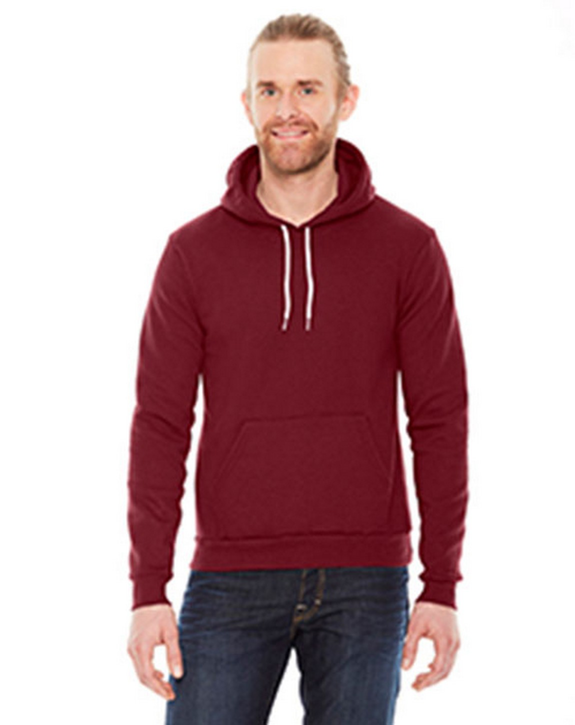 American Apparel F498W Unisex Flex Fleece Drop Shoulder Pullover Hoodie