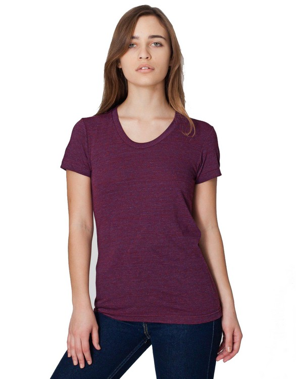 American Apparel TR301 Ladies Triblend Short-Sleeve Track T-Shirt