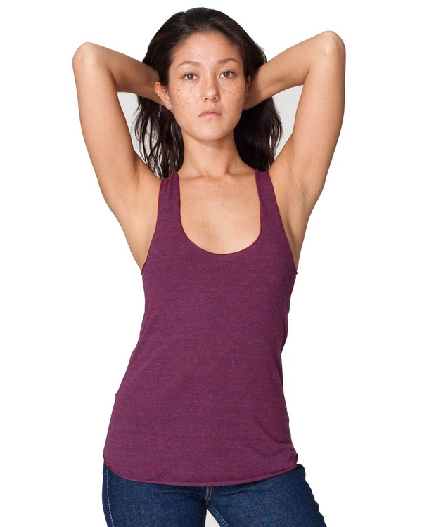 American Apparel TR308 Ladies Triblend Racerback Tank