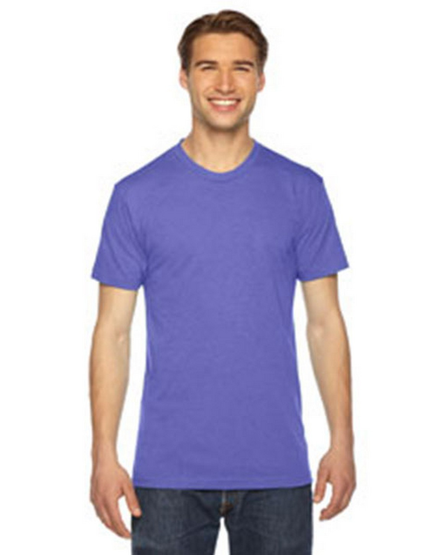 American Apparel TR401W Unisex Triblend Short-Sleeve Track T-Shirt