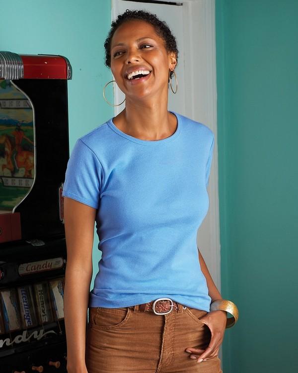 Anvil 1441 Ladies 1x1 Baby Rib Scoop T-Shirt