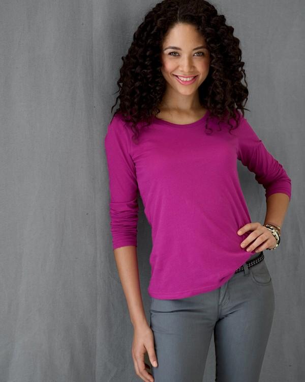 Anvil 399 Ladies Ringspun Sheer Long-Sleeve Featherweight T-Shirt