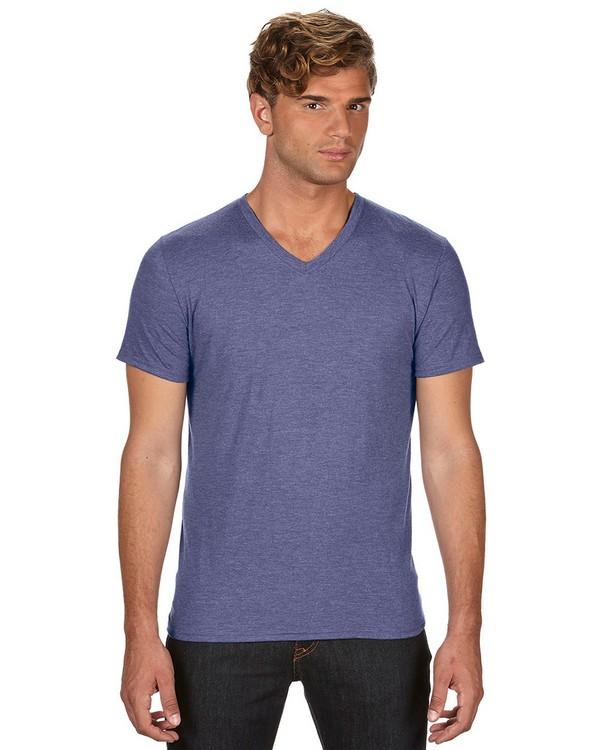 Anvil 6752 Triblend V-Neck T-Shirt