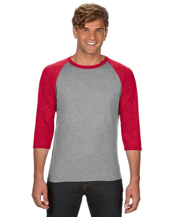 Anvil 6755 Triblend 3/4-Sleeve Raglan T-Shirt