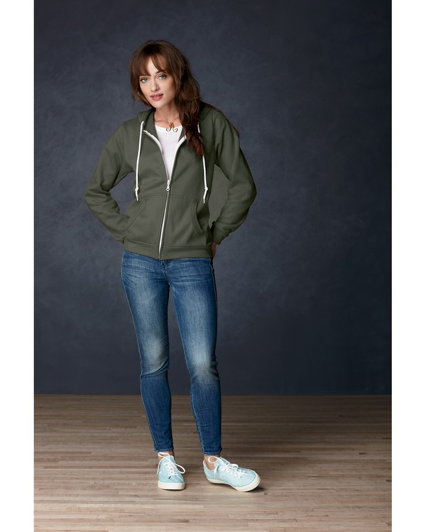 Anvil 71600L Ladies Full-Zip Hooded Fleece