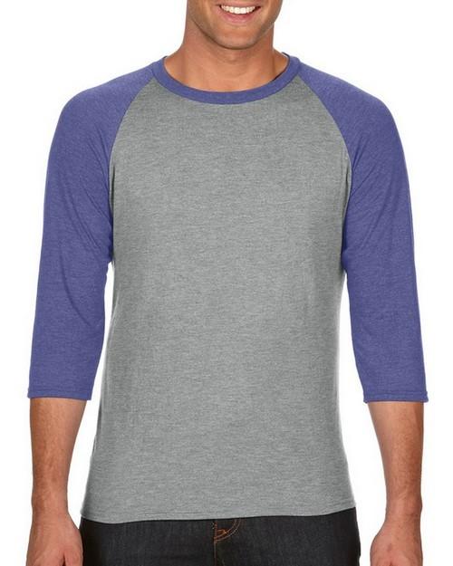 Anvil A6755 Adult Tri-Blend 3-Quarter-Sleeve Raglan T-Shirt