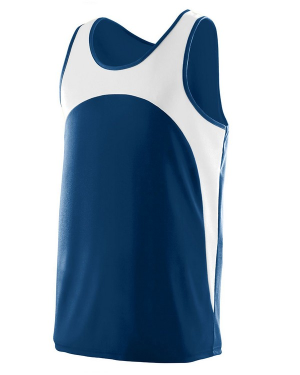 Augusta Sportswear 341 Youth Wicking Polyester Sleeveless Jersey with Contrast Inserts
