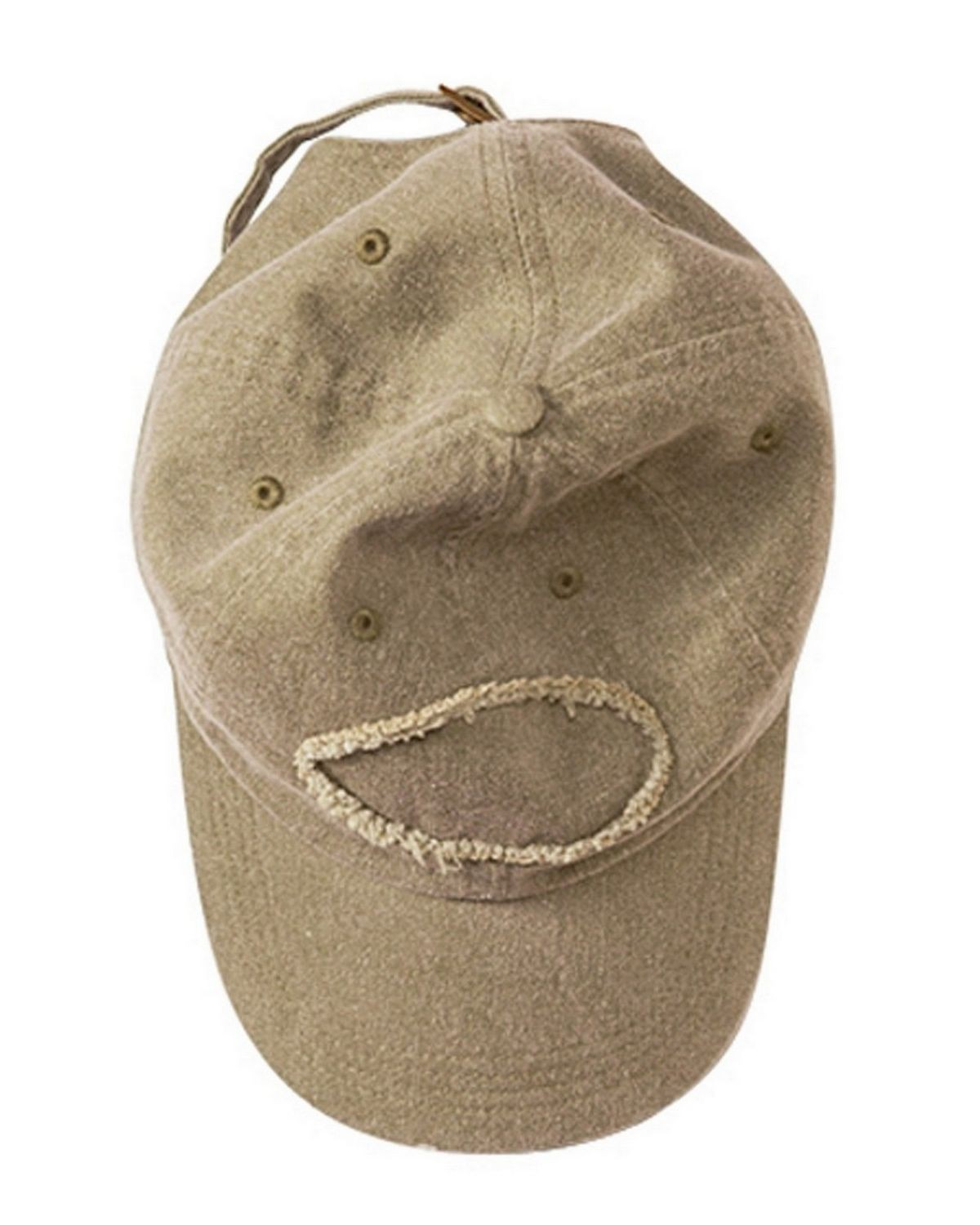 Authentic Pigment 1917 Pigment-Dyed Raw-Edge Patch Baseball Cap