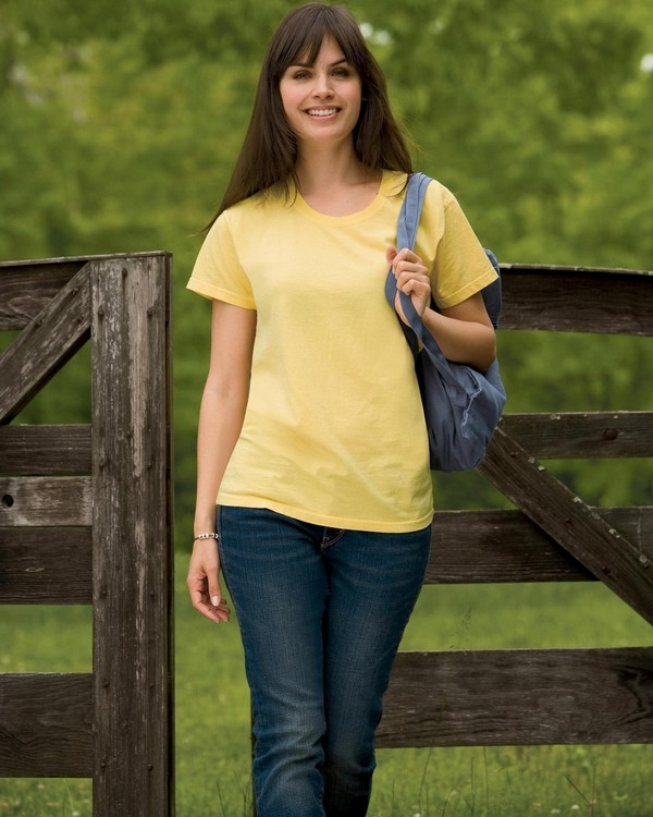 Authentic Pigment 1977 Ladies Pigment-Dyed Direct-Dyed Ringspun T-Shirt