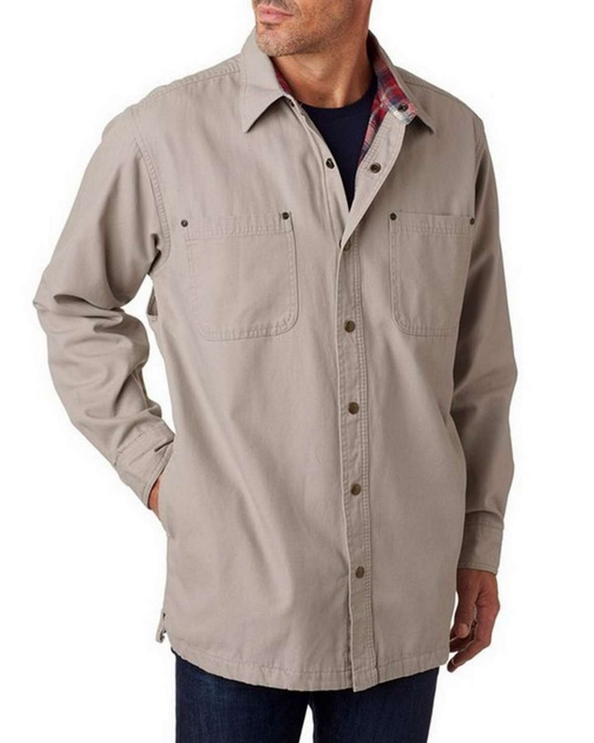 Backpacker BP7006 Mens Canvas Shirt Jacket with Flannel Lining