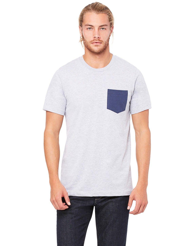Bella + Canvas 3021 Mens Jersey Short-Sleeve Pocket T-Shirt