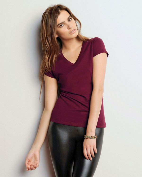 Bella + Canvas B6005 Ladies Jersey Short-Sleeve V-Neck T-Shirt