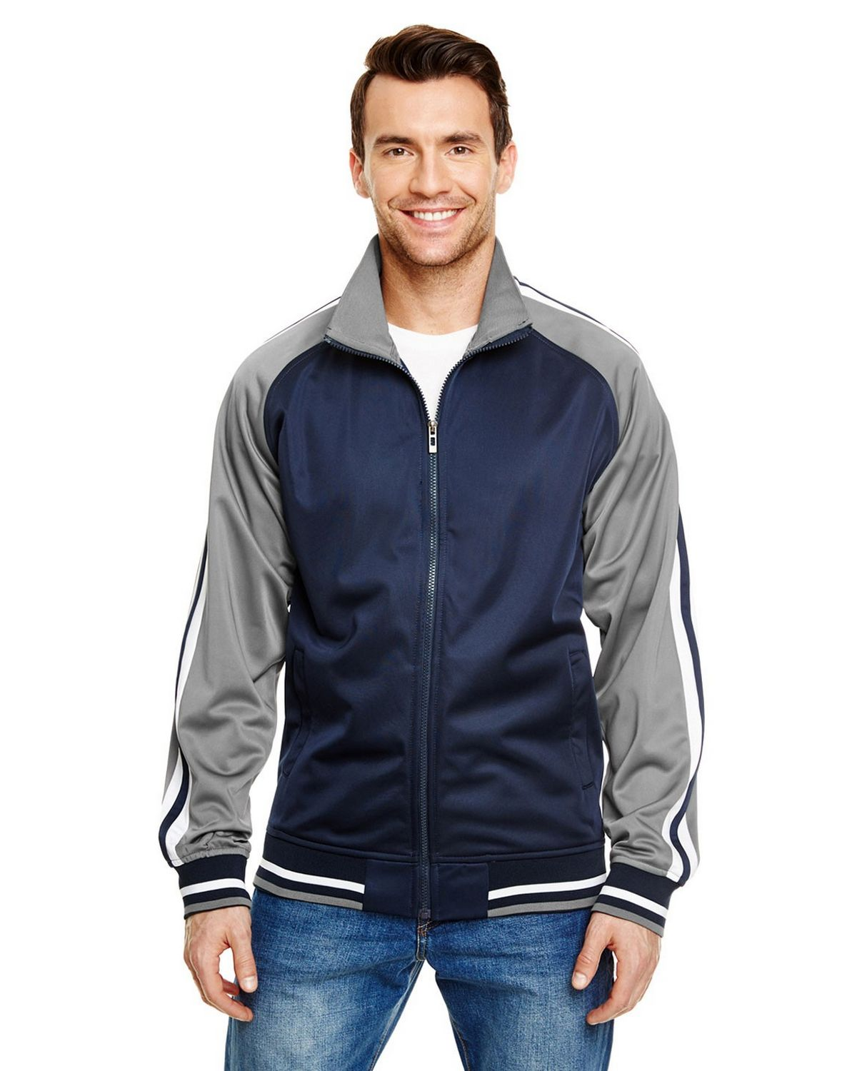 Burnside B8653 Adult Varsity Track Jacket