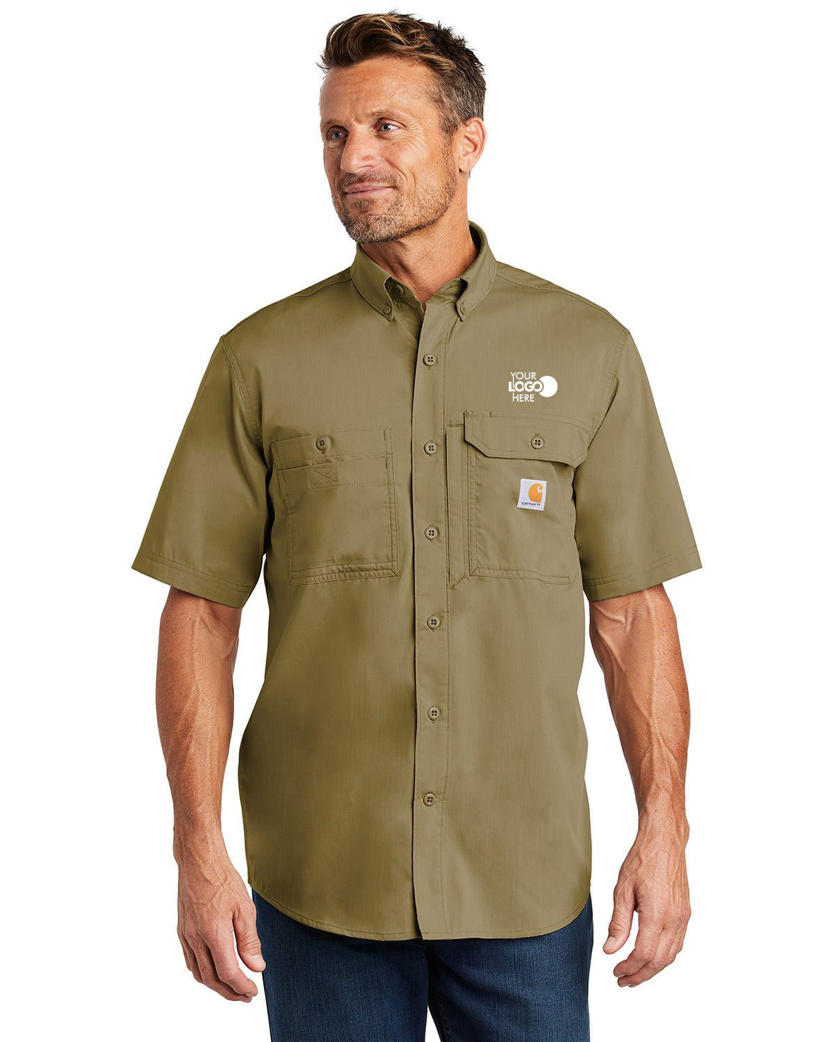 Carhartt CT102417 Force Ridgefield Solid Short Sleeve Shirt