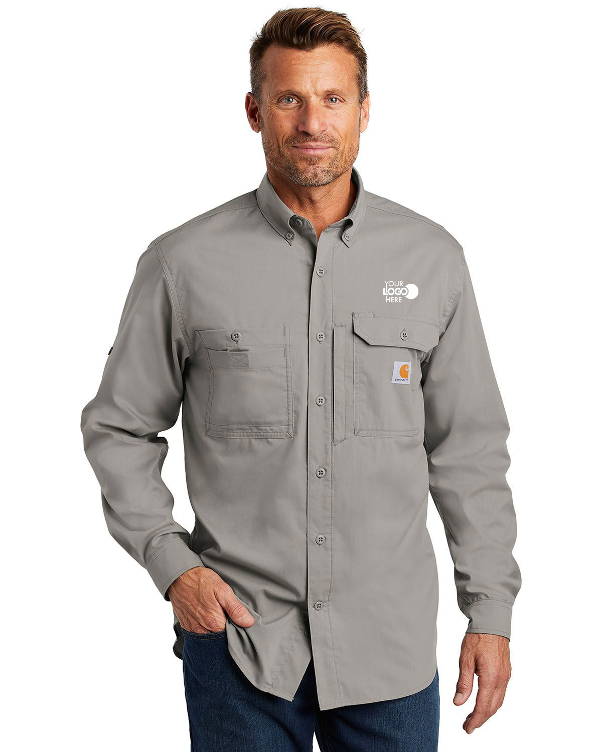 Carhartt CT102418 Force Ridgefield Solid Long Sleeve Shirt