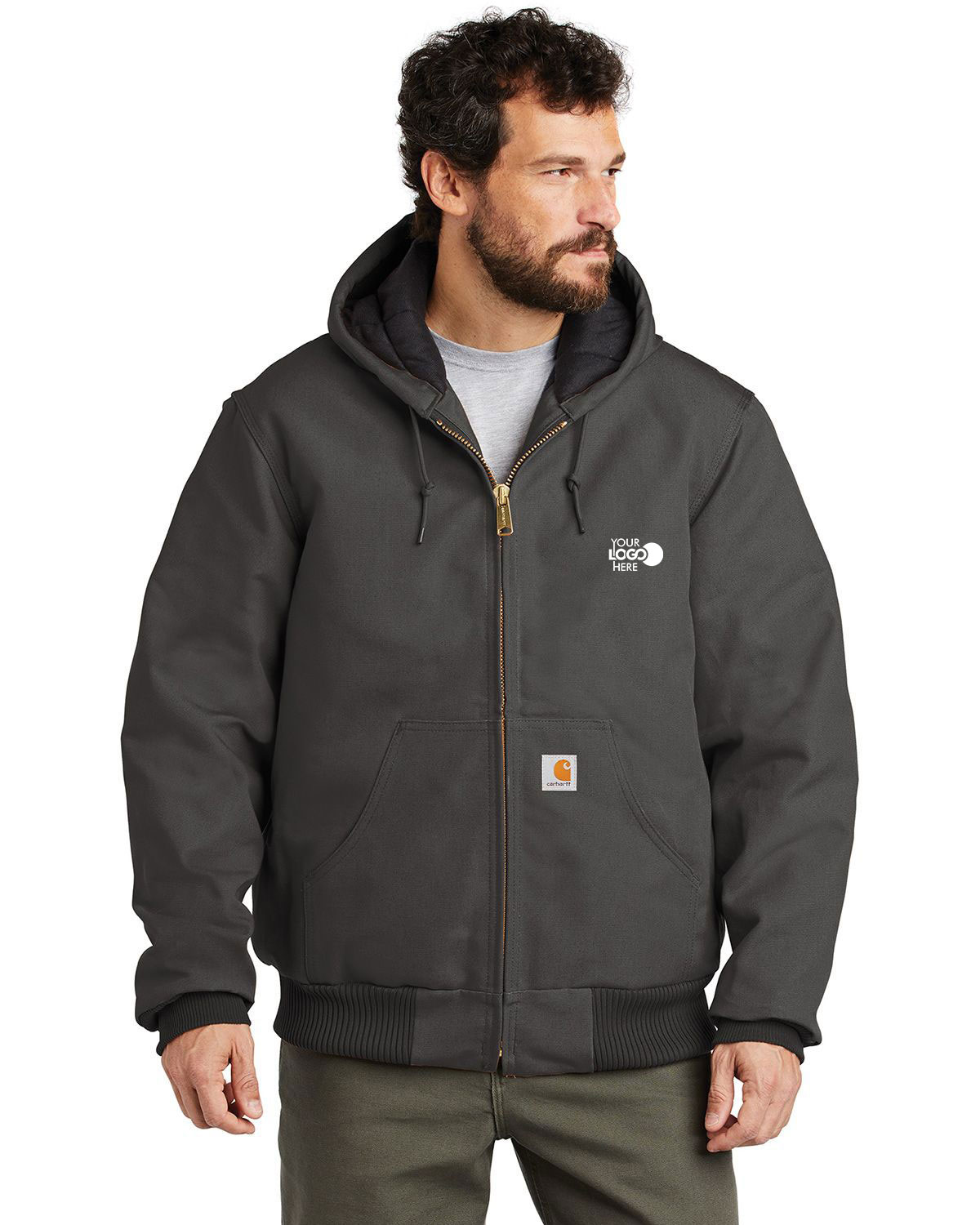 Carhartt CTSJ140 Quilted-Flannel-Lined Duck Active Jacket