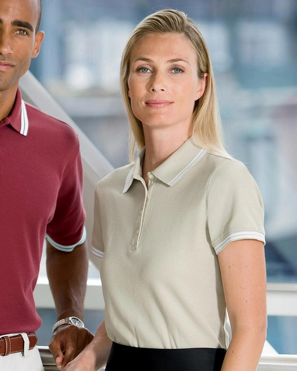 Chestnut Hill CH113W Ladies Tipped Performance Plus Pique Polo