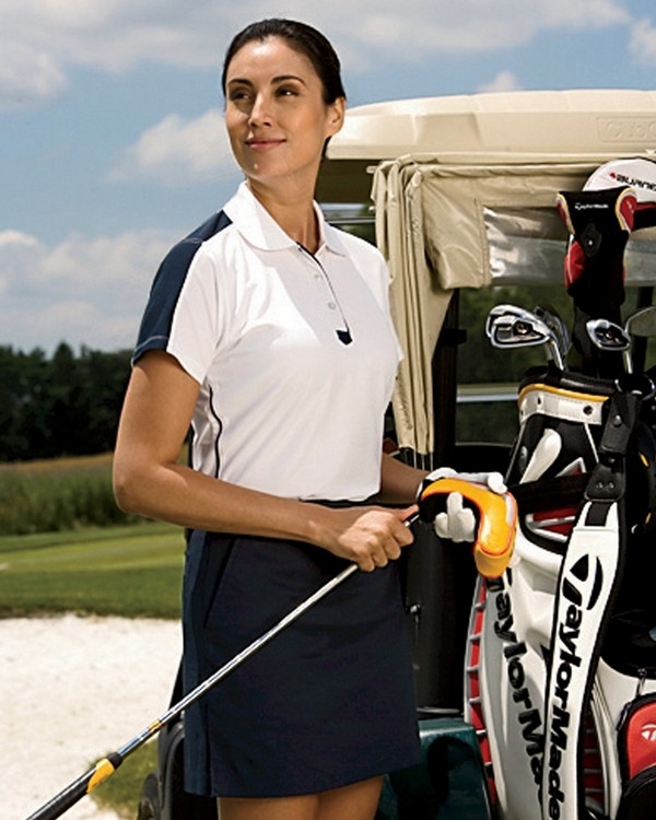 Chestnut Hill CH355W Ladies Piped Technical Performance Polo