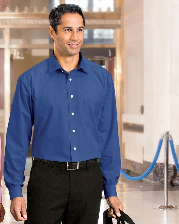 Chestnut Hill CH600C Mens Executive Performance Broadcloth with Spread Collar