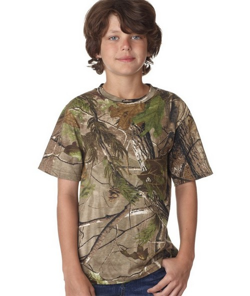Code Five L2280 Youth Realtree Camouflage Tee