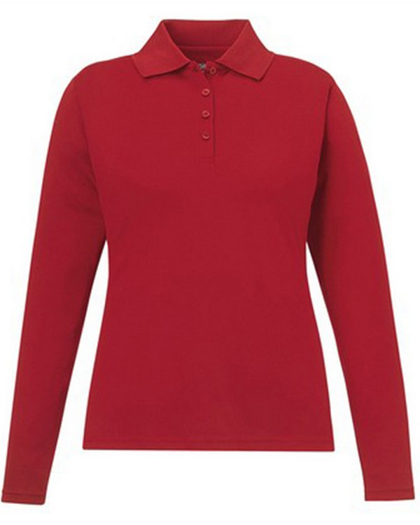 Core365 78192 Ladies Pinnacle Performance Long-Sleeve Pique Polo