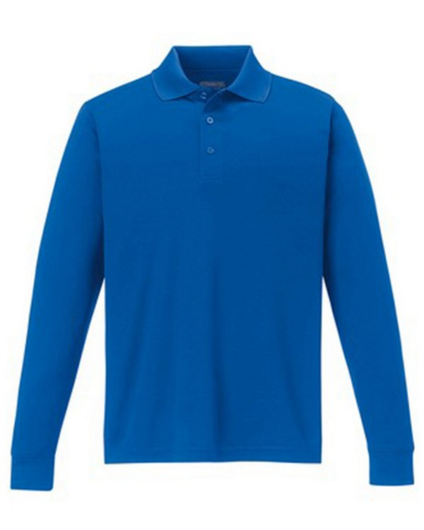 Core365 88192 Mens Pinnacle Performance Long-Sleeve Piqu Polo