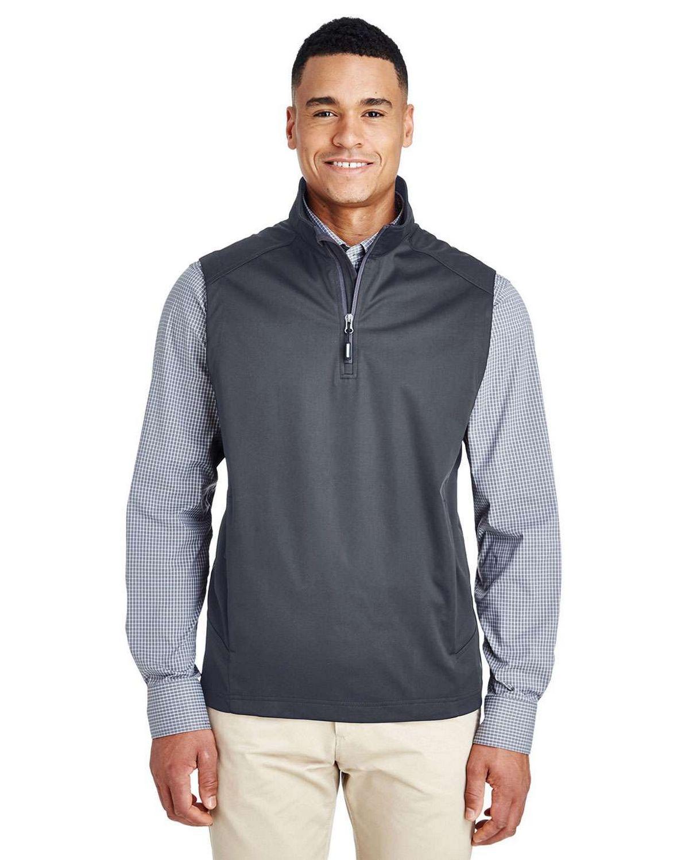 Core365 CE709 Mens Techno Lite Three Layer Knit Tech Shell Quarter Zip Vest